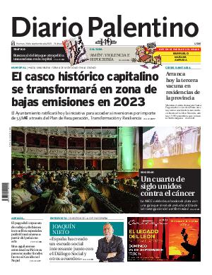 Portada Diario Palentino